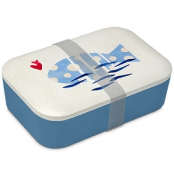 "Bamboo Lunch Box ""Poisson. Fish. Pesce"""