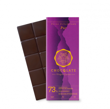 CHOCQLATE VIRGIN CACAO 73% pur VEGAN  BIO